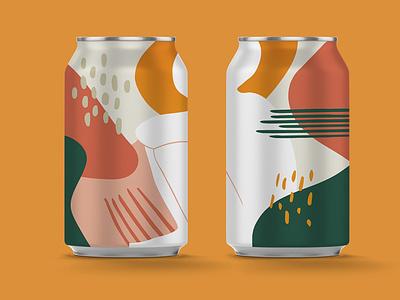 House of Can X Glug Can Mockup beer art branding illustration