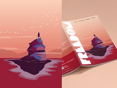 Freedom Festival 2019 festival poster design illustration