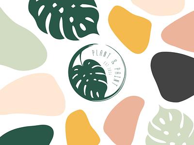 Plant and Paint Logo logo design branding illustration logodesign