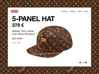 Supreme x Louis Vuitton - Product Detail Page
