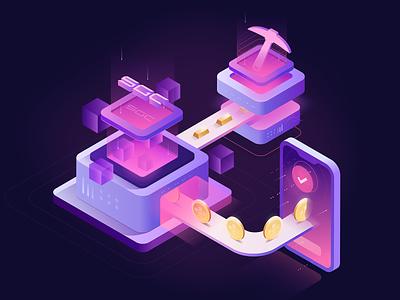 SGC mining token gold bitcoin design icon graphicdesign capital logo blockchain vector illustration