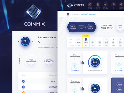CoinMIX capital mine blockchain bitcoin logodesign logo identity graphicdesigner graphicdesign design branding