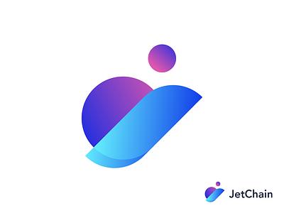 JetChain crypto blockchain design vector concept branding typogaphy logotype logo airline chain jet