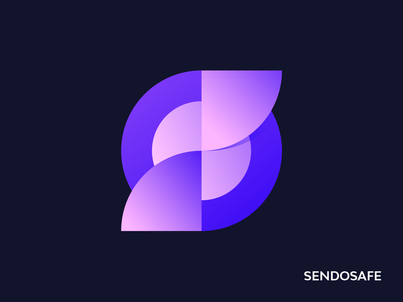 SendoSafe icon typography vector design branding capital illustraor logodesign logo