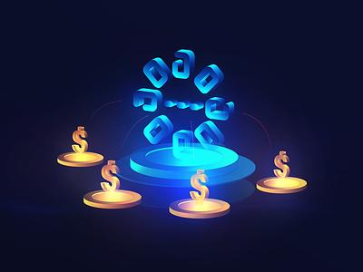 Payment chain illustration vector logo capital blockchain code creator platform statistics database social