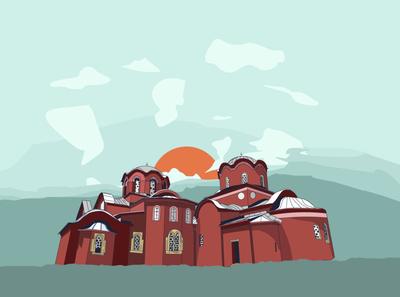 Serbian Patriarchate of Peć illustration art graphic design design illustration