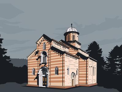 Visoki Dečani illustration art graphic design design illustration