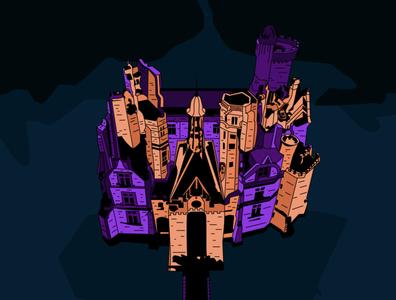 Castle illustration art design graphic design illustration
