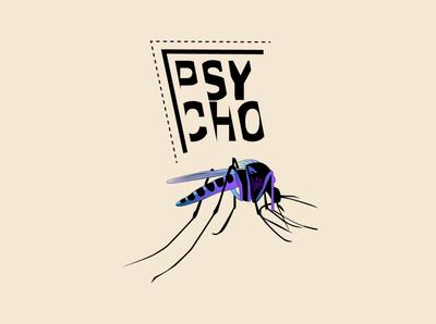 psycho branding logo illustration art graphic design design illustration