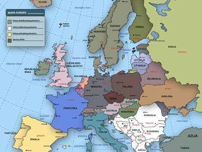 map of europe graphic design design illustration