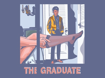 The Graduate poster graphic design design illustration