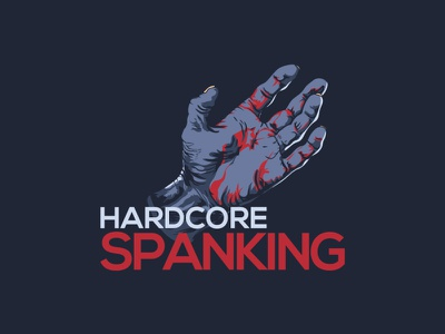 hardcore spanking logo graphic design design illustration