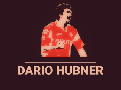 Dario Hubner football illustrtation graphic design graphicdesign