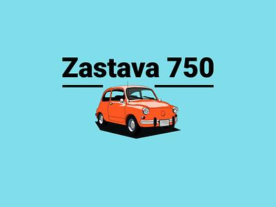 Zastava 750 yugoslavia graphic design illustration graphic  design car fiat