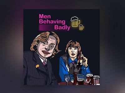 men behaving badly illustration art graphic design design illustration