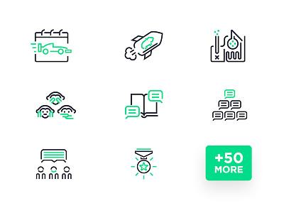 Ninjay Icon Set linear pictograms icon set icons