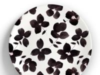 b+w floral pattern