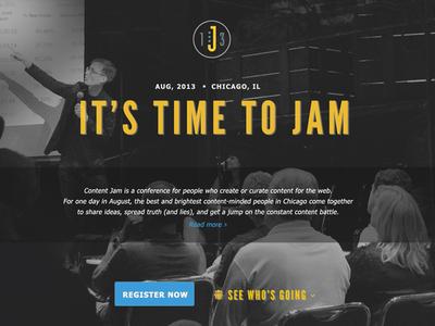 Content Jam splash page