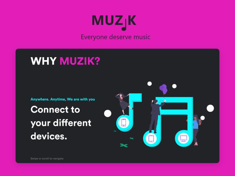 Muzik Website music streaming website design uxdesign uidesign ui ux