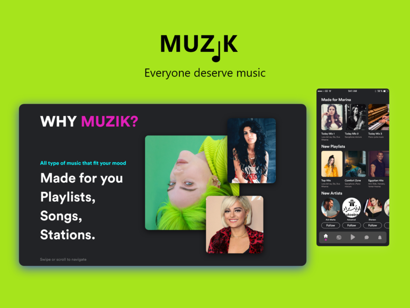 Muzik Website webdesign music uxdesign uidesign ui  ux