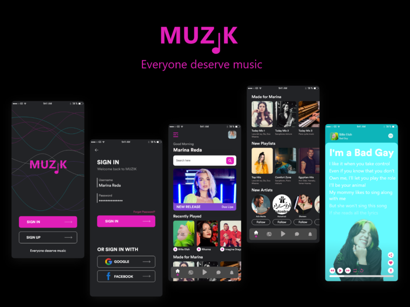 Muzik Website music website design uxdesign uidesign uiux