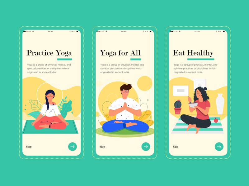 Yoga App Concept yoga app app meditation uidesign uxdesign uiux