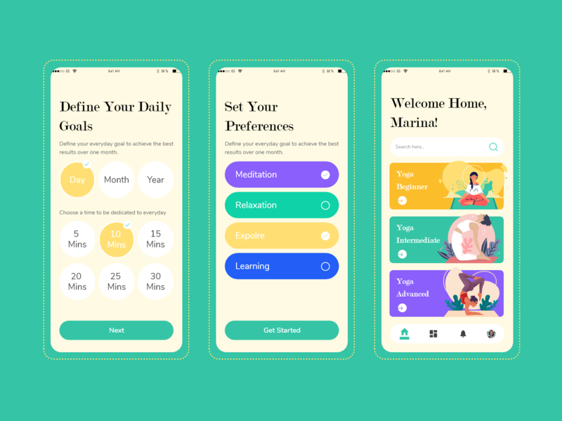 Yoga App Concept meditation yoga app yoga uxdesign uidesign uiux