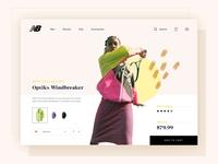 New Balance - Online Store by airschl products pdp design desktop ui product cart minimal branding sportswear athletes store landing page model hero feminine ecommerce mockup