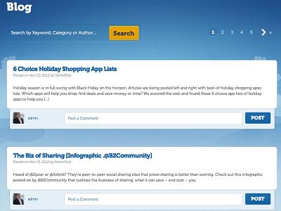 Blog Design blog comments website web design