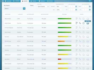 UI Project - Patient Summary ui design web design