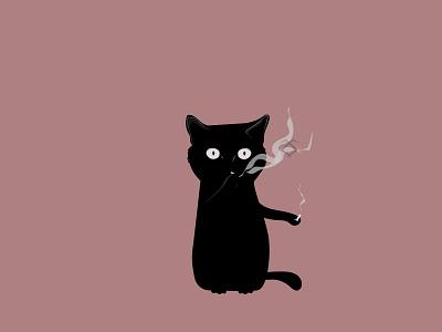 Badcat design illustration vector