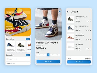 Sneakers Store app UI
