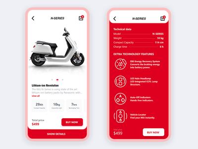 motorcycle store app
