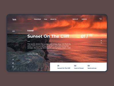 travel-sunset on the cliff