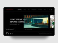 art exhibitions web UI