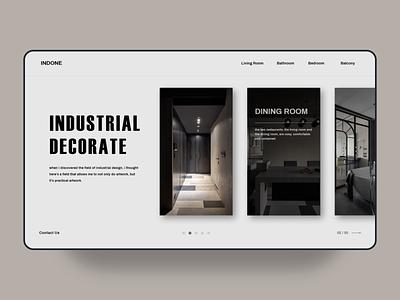 industrial decorate web UI decorate illustration branding website design web ux ui