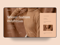 fashion brand web UI
