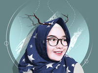 vector hijab illustration