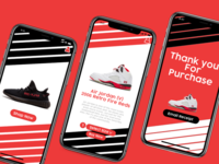Shoe shopping app - concept art