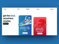 Web concept art - Sneaker Store
