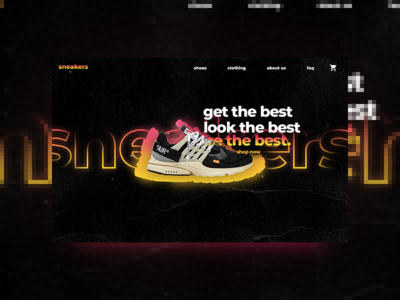 sneaker web concept