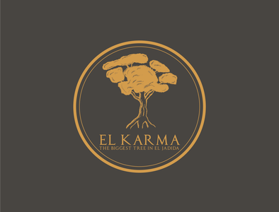 Karma logodesign vintage illustration vintage design vintage