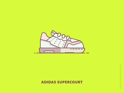 Sneaker: adidas supercourt