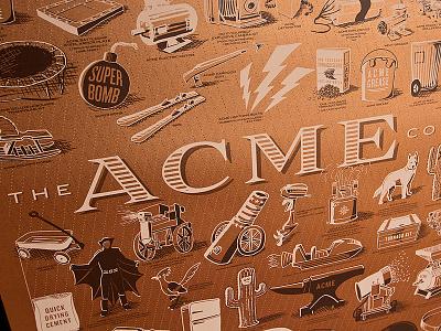 ACME Poster | Copper Variant acme poster copper paper print metallic illustration