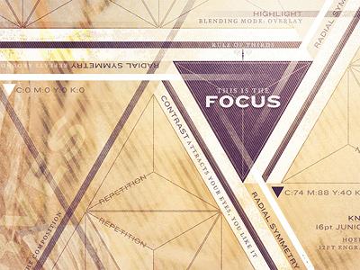 This Is the Focus focus poster design triangle purple texture fringe focus