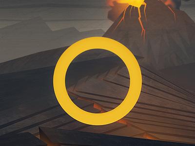 Mordor lord of the rings volcano poster print illustration rocks lava dark