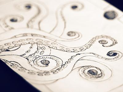 Tentacles Tentacles tentacles octopus squid pool billiards balls illustration poster