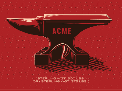Anvil acme anvil cartoon print illustration poster