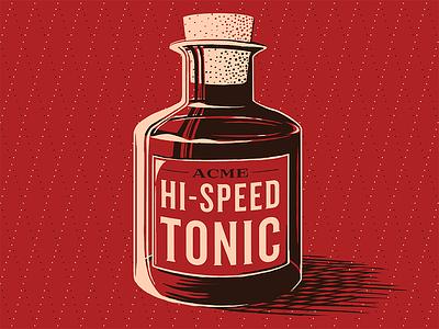 Hi-Speed Tonic acme inventory prints poster illustration cartoon bottle