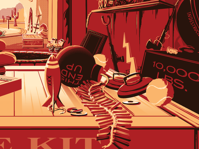 Coming Soon: The Desk of Mr. Coyote print desk illustration poster coyote acme
